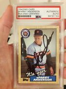 1987 Topps Card 218 Sparky Anderson Psa Dna Slabbed Signed Auto Tigers