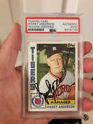 Sparky Anderson Auto Signed Card 1984 Topps 259 Detroit Tigers Psa Encapsulated