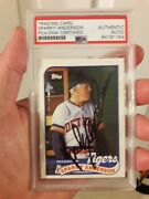 Sparky Anderson Auto Signed Card 1989 Topps 193 Detroit Tigers Psa Encapsulated