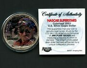 2001 United States Dale Earnhardt Eagle Dollar 1 Oz Silver Coin In Capsule