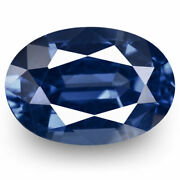 Grs Certified Sri Lanka Blue Sapphire 1.51 Cts Natural Untreated Deep Blue Oval