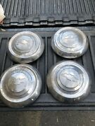 4 1951 1952 1953 Chevrolet Hub Cap Wheel Cover Dog Dish 1950and039s Vintage