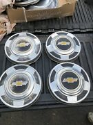 Seat Of Four 4 1973-1987 Chevy Dog Dish 10 1/2 Hubcaps C10 Pickup Truck Van