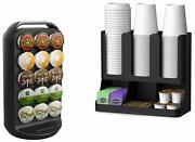 Crup6-blk K-cup Carousel Ancoffee Condimentd Coffee Condiment / Cup Organizer,