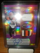 Joe Burrow 2020 Panini Plates And Patches Double Coverage Rc Rpa 1/35 Bengals