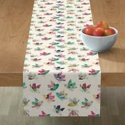 Table Runner Bird Bohemian Folk Flying Hope Dream Boho N3w Cotton Sateen