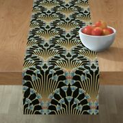 Table Runner Art Deco Egyptian Egypt Papyrus Floral Cotton Sateen