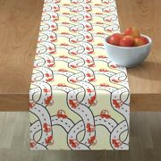 Table Runner Traveling Dogs Pet In Cars Nursery Decor Coopercraft Cotton Sateen