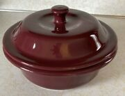 Pampered Chef Us 1132 Cranberry Round Covered Baker Casserole Dish 6 Cup 1.5l