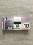 2004 Canada One Hundred Gem Consecutively Numbered Ten Dollar Bank Notes.