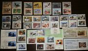Migratory Duck Hunting Stamp Collection 46 Stamps Fed Md And Foreign 1 Mint