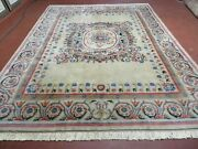 8and039 X 10and039 Vintage Hand Made Wool Rug Aubusson Savonnerie Design European Nice