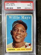 1958 Topps Willie Mays 5 Psa 2 Gorgeous Best 2 Youand039ll See