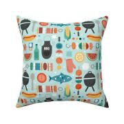 Summer Cookout Bbq Grilling Throw Pillow Cover W Optional Insert By Roostery