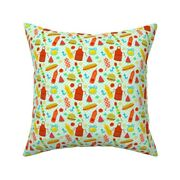 Cookout Bbq Burgers Food Throw Pillow Cover W Optional Insert By Roostery