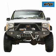 Eag Front Bumper With Led Lights Fit 1984-2001 Jeep Cherokee Xj