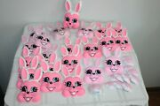 Big Lot 125 Piece Bakery Crafts Pop Tops Pink Bunny Cake Topper Plastic Molds