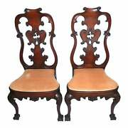 1920s Spanish Colonial Dining Chairs Old Hollywood Provenance Thomas H. Ince