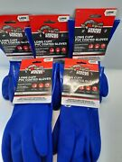Grease Monkey Long Cuff Pvc Coated Size Large Gloves Lot Of 5 New