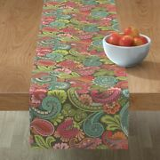 Table Runner Christopher Dresser Cyngalese Vintage Paisley Cotton Sateen