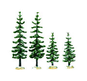 Lemax Green Blue Spruce Trees Christmas Village - Case Of 6 Each Pack Qty 1