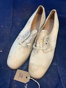 Original Ww2 British Army Womenand039s White Summer Shoes - Ats Waaf - Size 245s 14