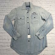 Polo Chambray Workshirt Nwt Eagle Flag Home Of The Brave Denim Xs