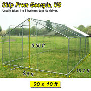 20x10 Ft Chicken Coops Run Cage Backyard Hen House Poultry Rabbit Cage And Cover