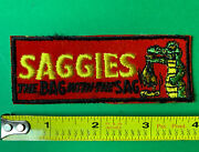 Vintage 1970s Topps Wacky Packages Sew-on Cloth Patch Saggies Novelty Alligator