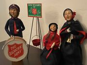 Byers Choice Salvation Army Lot Drum Carolers