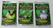1st Edition Jungle 3 Booster Pack Art Set Unweighed And Factory Sealed Pokemon Tcg