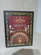Casino Wood Plaque 8 X 10 Roulette Wheel Game Table