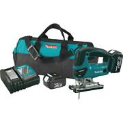 18-volt Lithium-ion Cordless Jig Saw Kit Variable Speed Motor 3 Orbital Settings