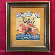 Villeroy And Boch Porcelain Russian 19th Century Icon St.michael