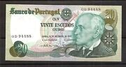 Portugal Banknote, 20 Escudos X2, 1978, Unc, Gem, Consecutive Numbers