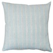 Cambridge Stripe Cushion In Duck Egg Blue. Nautical Style 100 Cotton. 17 Sqand039