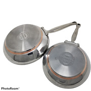 Kitchenaid 5-ply Full Cap Copper Base 8 And10 Inch Stainless Frying Pan Skillet