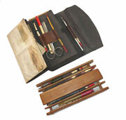 Vintage Coarse Fishing Rexine Wallet With Floats Winder Hook Packets