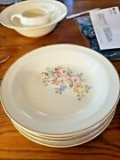 5 Vintage Taylor Smith And Taylor Tsandt 1916 8 Rimmed Round Soup Salad Bowls