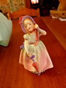 Vintage Royal Doulton Figurines Babie Hn 1679 5 Young Girl With Parasol