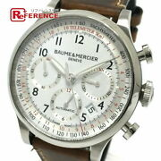 Baume And Mercier Cape Land Moa10000 Used Watch Back Skelton Auto Ss Excellent