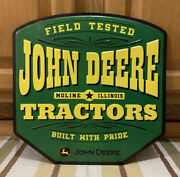 John Deere Tractor Sign Parts Service Equipment Vintage Style Wall Decor Toy
