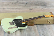Minty 2014 Bonneville Guitars Usa T-style Relic Mint Green And Black + Ohsc