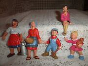Vintage Bullyland G Scale Train Dollhouse People Lot Of 5