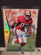 1999 Sp Authentic Buyback Auto Jerry Rice /80 49ers