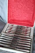 Set Of 24 Christofle Marly Silver-plate Dessert Cheese Salade Knives France