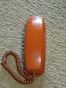 Vintage Bell System Western Electric Trimline Pushbutton Wall Phone Burnt Orange