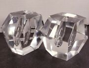 Set Of Two 1953 Timo Sarpaneva Crystal Orchid Vase Iittala 4 X 3 Paperweight