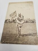 Antique Postcard Yellow Dog Sign Talking Sioux Falls 1907 American Flags