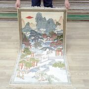 Yilong 2and039x4and039 Scenery Tapestry High Density Villa Handwoven Carpet Silk Rug 014h